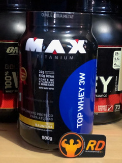 Top Whey 3w - 900g - Max Titanium - Rd Suplementos Bh