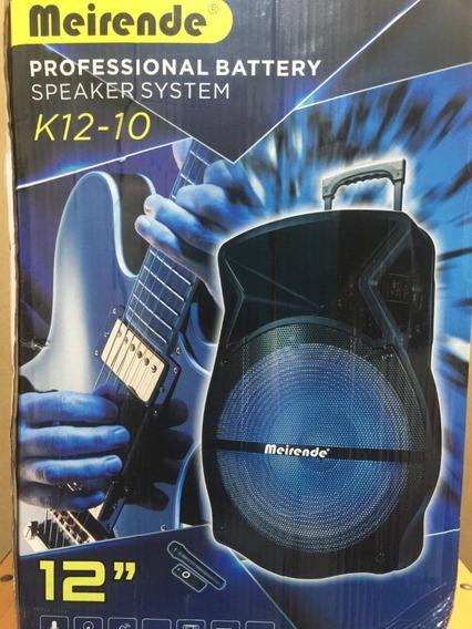 Corneta Amplificada Portatil De 15 Mod.k12-10 Con Microfono