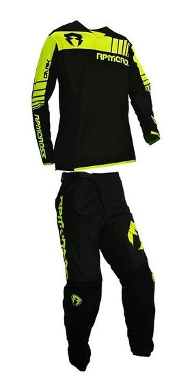 Conjunto Jersey Y Pantalón Rpm Cross Dark / Lavalle Motos
