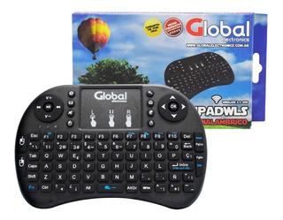 Teclado Mini Con Mouse Táctil Inalámbrico Smart Tv Global