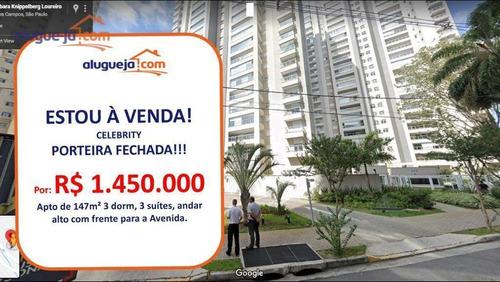 Imagem 1 de 30 de Apartamento Com 3 Dormitórios À Venda, 147 M² Por R$ 1.450.000 - Vila Ema - São José Dos Campos/sp - Ap12864