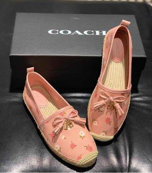 Zapatos Coach Espadriles Carson Canvas Fg3456 Rosa Floral