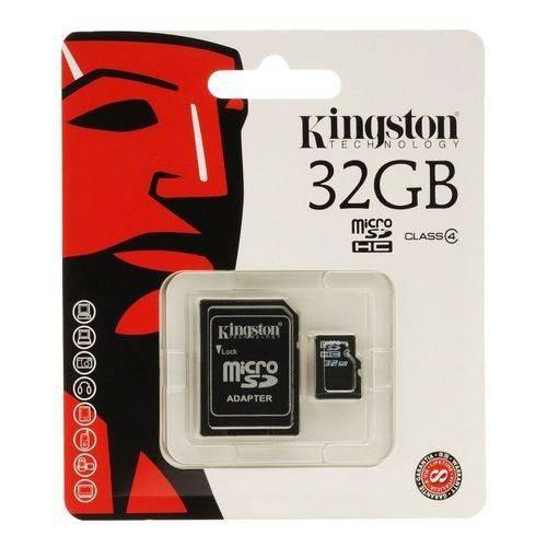 Cartão De Memória 32gb C/adaptador Sd Classe 04 Kingston