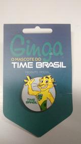 Pin Mascote Ginga Time Brasil - Oficial Rio 2016