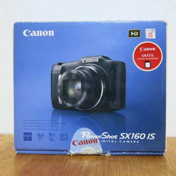 Canon Powershot Sx160 Is Semi-nova Usada Uma Vez Somente