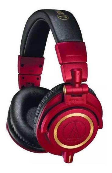 Fone De Ouvido Audio-technica Ath-m50xrd - Vermelho