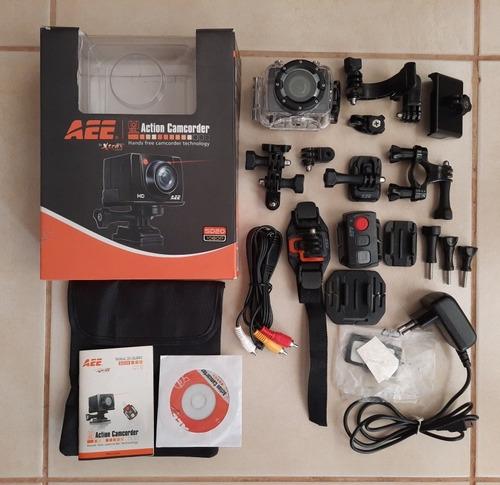 Câmera Aee Xtrax Sd20 1080p Completa - Usada E Perfeita.