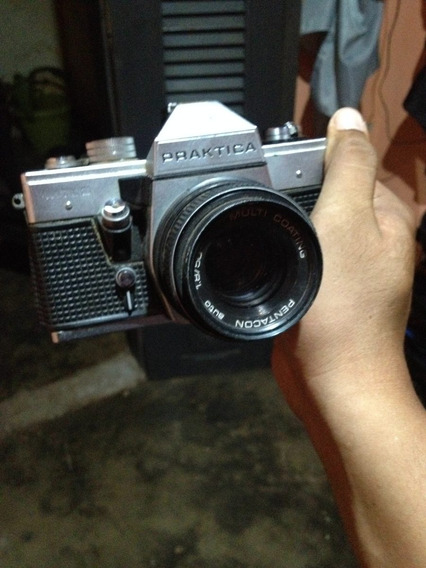 Câmera Praktica Mtl-3 Com Lente - Item Para Colecionar