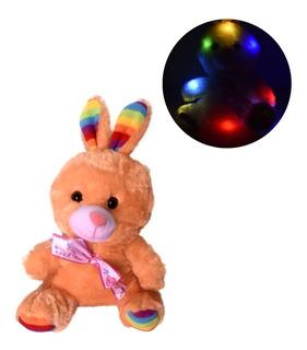 Peluche Conejo Colores Luz Prende 14 Febrero Valentin