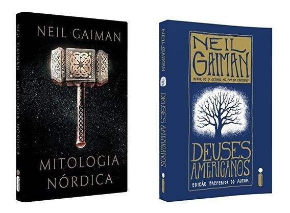 Livros De Neil Gaiman Mitologia Nórdica + Deuses Americanos