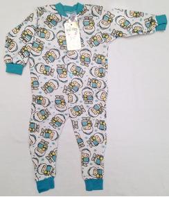 Pijama Macacão Moletim Flanelado Rn, P, M, G, 1 E 2