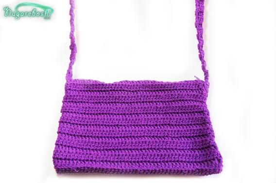 Cartera Con Cierre Tejida Al Crochet Y/o A Dos Agujas