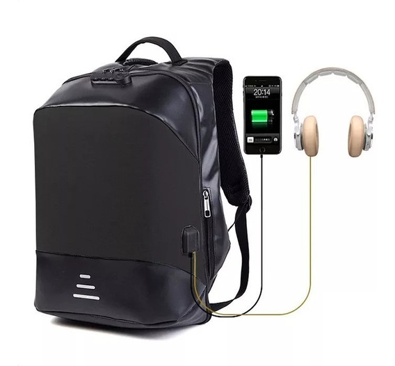 Mochila Antirrobo Notebook Usb Impermeable Anticorte 1912