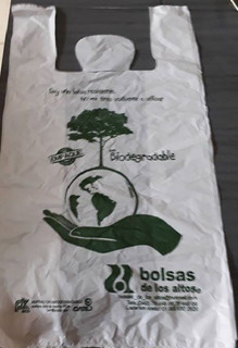 Bolsa Biodegradable Camiseta Mediana Con Envio Gratis 2 Kg