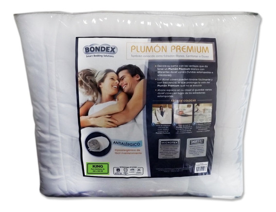 Plumon Premium Bondex Color Blanco Tamaño King