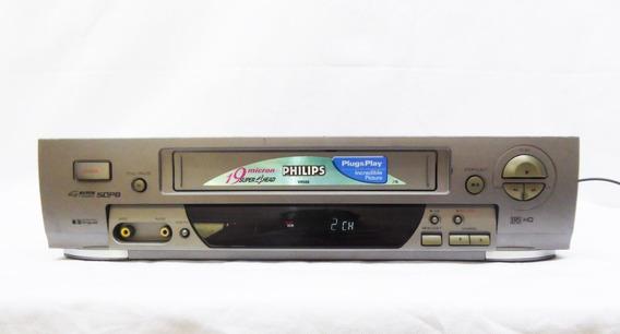 Vídeo Cassete Philips 4 Cabeças - Vr 588