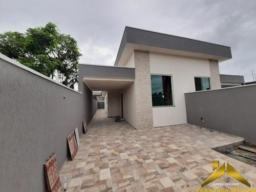 Casa Nova Com Excelente Acabamento Na Nova Itanhaém - Ca00286 - 69201324