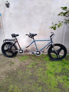 Bicicleta Tándem Rodado 26 Muy Buen Estado Cubiertas Nuevas
