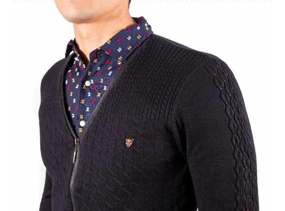 Sueter Con Media Camisa Frontal Integrada Moderno Black 306