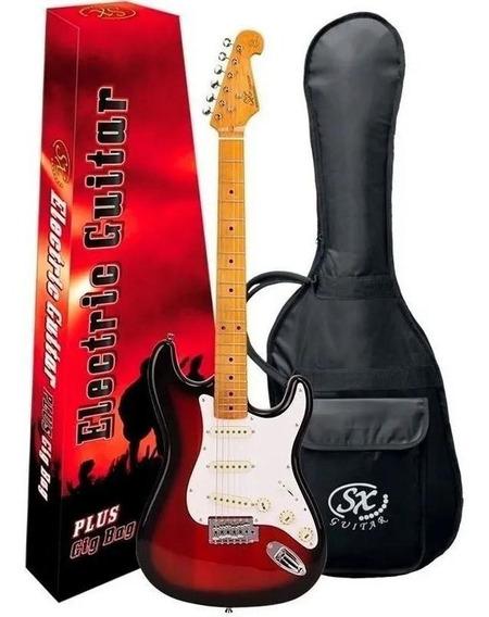 Guitarra Sx Vintage Sst57 Sunburst 2ts Stratocaster Com Bag