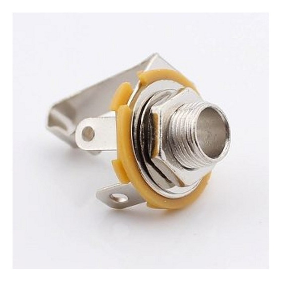 Jack 6.5mm Stereo Para Chasis Sin Corte Conector Plug X 5