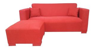 Sillon Sofa 3 Cuerpos Esquinero Camastro Living Chenille