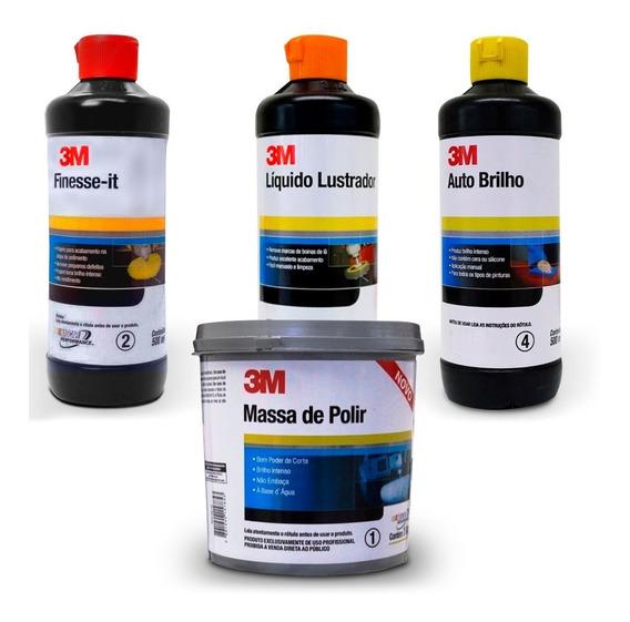Kit Polimento Cristalização Profissional 3m - 4 Etapas