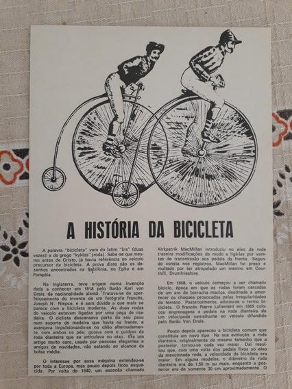 Recorte Matéria Reportagem História Da Bicicleta
