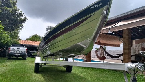 Barco De Alumínio Bico Fino De 5 Metros Esporte E/ou Recreio