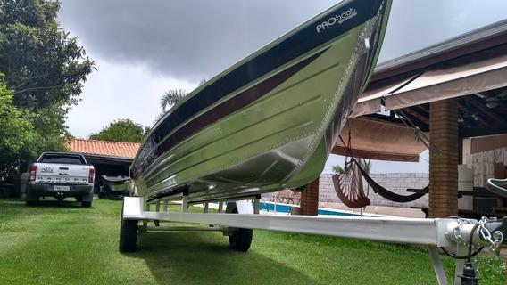 Barco De Alumínio Bico Fino De Cinco Metros Profissional