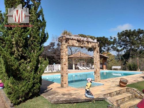 Linda Chácara Com Piscina, Área Gourmet, Playground, Casa Com 04 Dormitórios À Venda, 10000 M² Por R$ 890.000 - Pedra Bela/sp - Ch0511