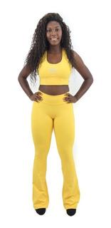 Calça Feminina Flare 3 Cores Tecido Emana Nova Coleção 2020