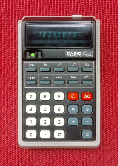 Calculadora Científica Casio Fx-10 ( Rara, Made In Japan )