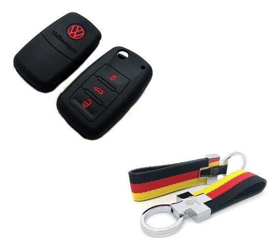 Funda Cubrellave + Llavero Alemania Volkswagen Bora Gol Trend Fox Vento Up Suran Voyage Passat Tiguan Scirocco Passat