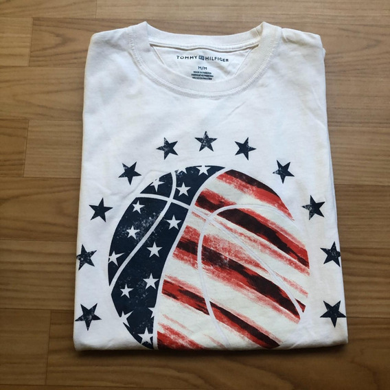 Camiseta Camisa Masculina Tommy Hilfiger Off White Top.
