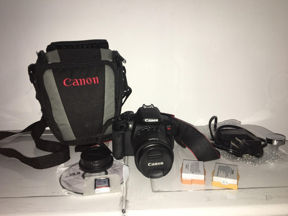 Camera Canon Hdslr T5i + 2 Baterias + Lente 18-55mm+ Cartão