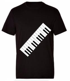 Camiseta Estampada Teclas / Teclado Air Style