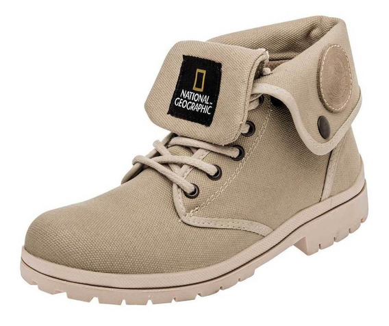 Botin National Geographic 0j41u-01 Color Beige Mujer Sc-oi19