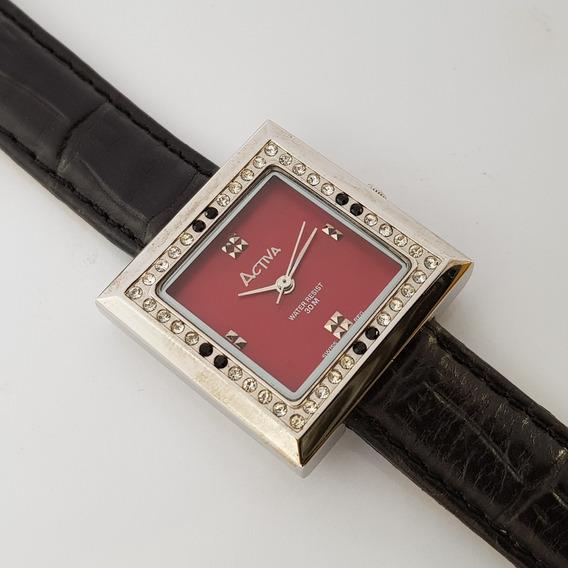 Relógio Feminino Activa Stone Cuadro Vermelha
