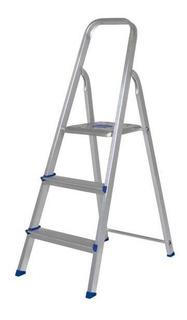 Escada Alumínio 3 Degraus Mor - Prata