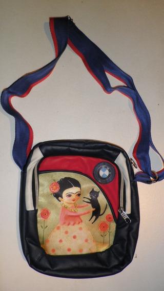 Morral Frida Kahlo - B M W - Marca Puma - 20 X 25 X 8 Cm