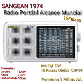Rádio Portatil Original Sangean Alcance Mundial Fm Am Sw Oc