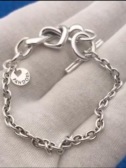 Bracelete O Amor Que Une Ou Brinco Amor Moderno Prata 925s