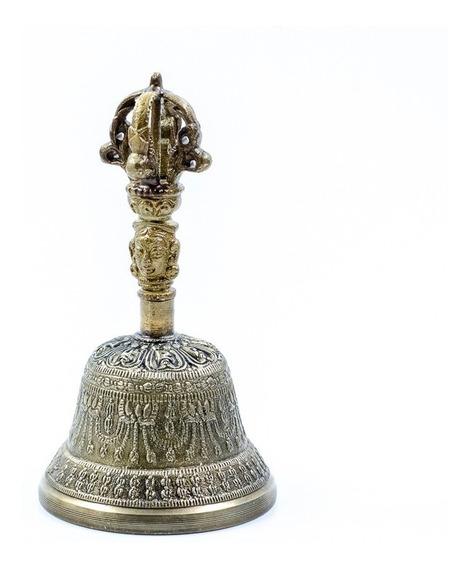 Campana Tibetana Labrada Mediana 13cm. India!