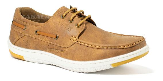 Zapatos Nauticos Hombre Massimo Chiesa Acordonado Eco Cuero