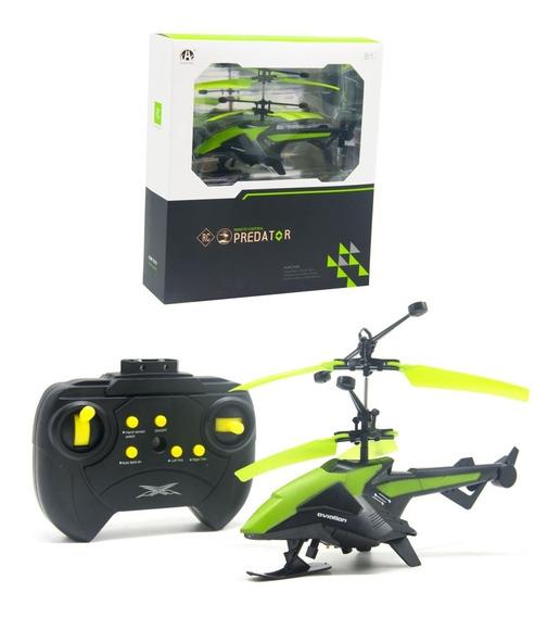 Helicoptero Controle Remoto E Sensorial 2 Em 1 Led E Giro