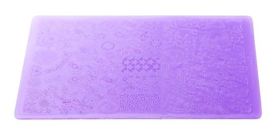Thuya Placa Mediana Stamping Manicuría Uñas Nail Art