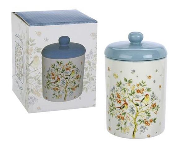 Frasco De Ceramica Diseño Arbol Color Celeste 280ml