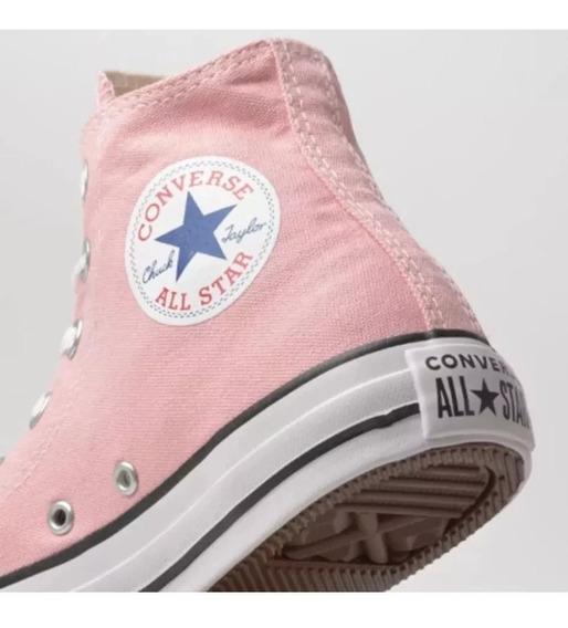 Tênis Infantil Converse All Star Ct Cano Alto Rosa Bebê