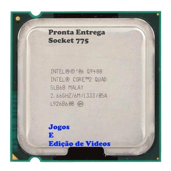 Processador Intel Quad Q9400-2.66ghz/6m775 + Cooler